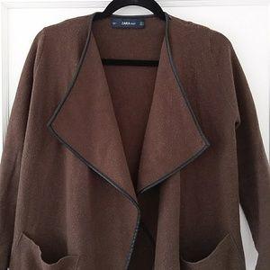 Zara knit lapel jacket